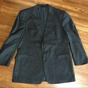 Vintage BURBERRY men's suit coat jacket 44L wool